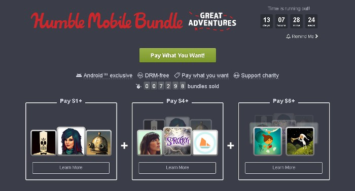 El nuevo Humble Bundle propone aventuras para teléfonos móviles