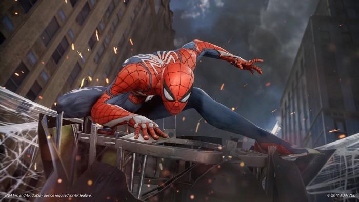 Fantásticos detalles del juego de Spiderman para PS4