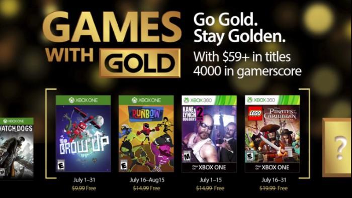 Grow Up y Kane & Lynch 2 entre los juegos de Gold para julio