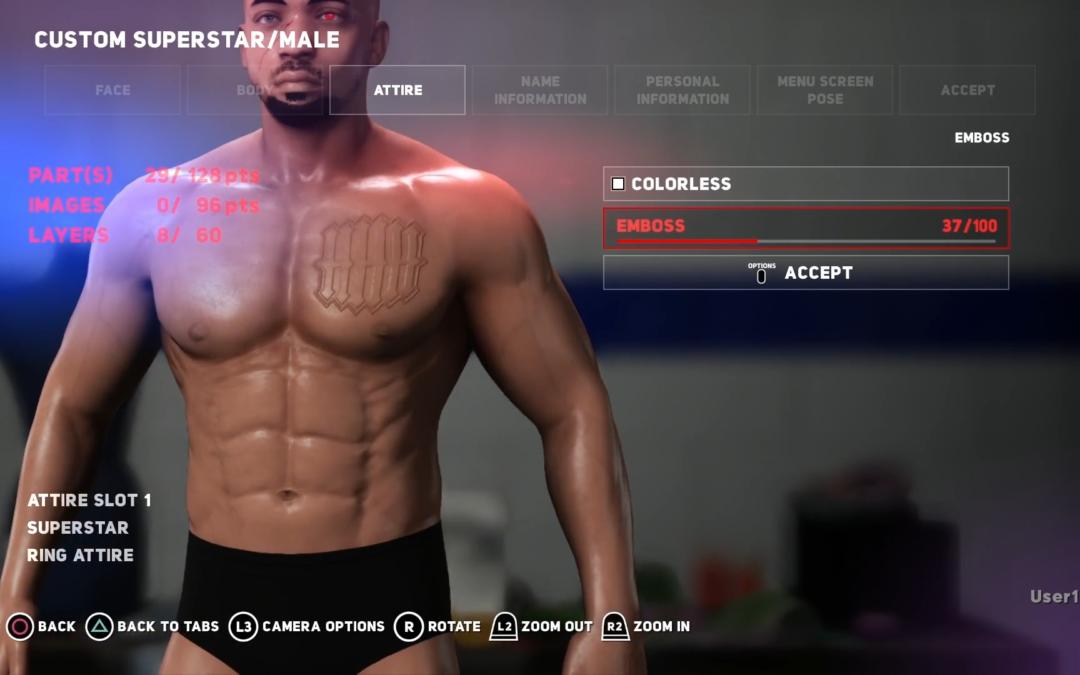WWE 2K18 muestra sus mejoras en Create- A-Superstar