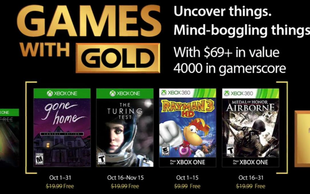 Rayman 3 HD, The Turing Test… Juegos gratis en Xbox Live GOLD en octubre