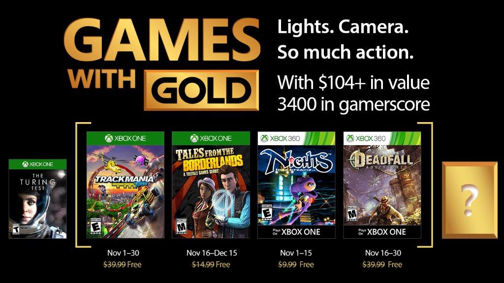 Tales from Borderlands y Nights entre los Juegos con Gold de noviembre