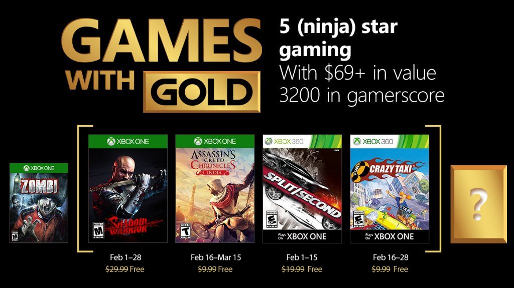 Shadow Warrior y Assassin's Creed Chronicles: India entre los Juegos con Gold para febrero