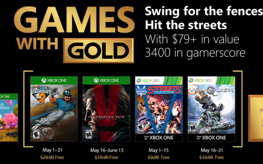 The Phantom Pain, Vanquish y Streets of Rage, entre los Games With Gold de mayo