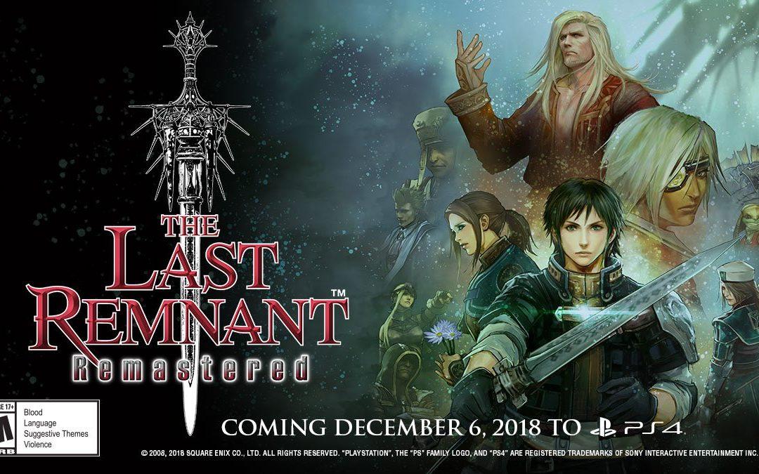 The Last Remnant Remastered, a la venta el 6 de diciembre en PS4