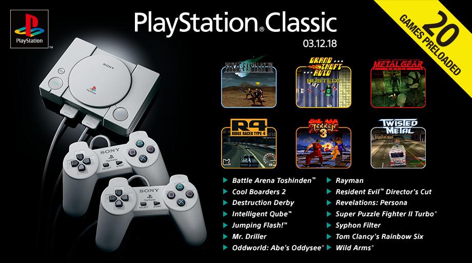 Desvelados los juegos para PlayStation Classic