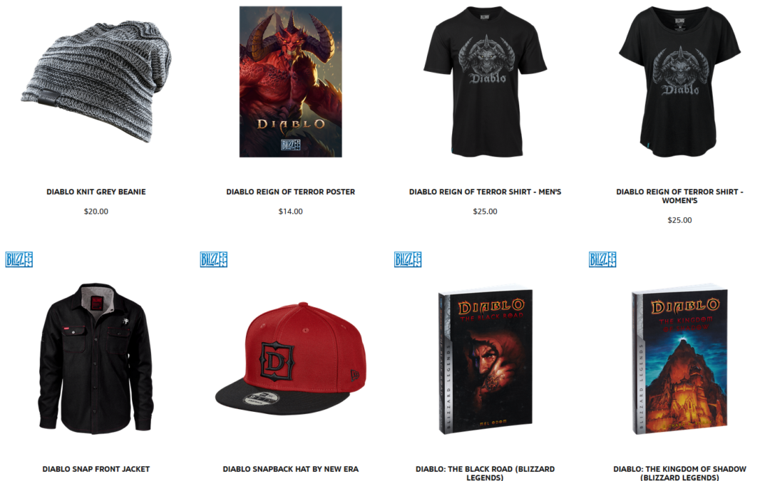 Diablo Reign of Terror aparece en merchan oficial